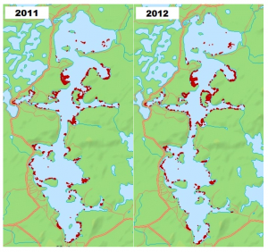Total GPS harvest points from 2011 and 2012.