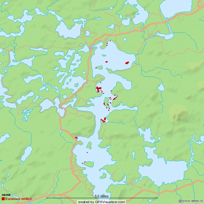 milfoil map 2013 week 7