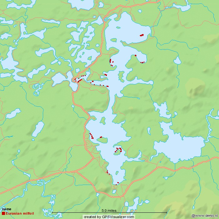 milfoil map 2013 week 8