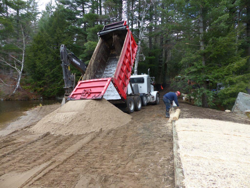 Seeding and sand