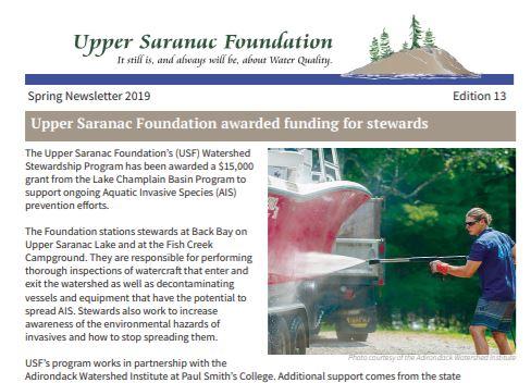 Newsfeeds Archive - Upper Saranac Foundation
